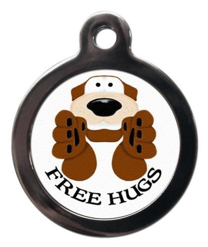 Pet ID Tag Free Hugs